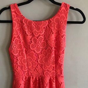 B Darlin Coral Lace Dress